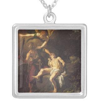 アイザック1616年の犠牲 シルバープレートネックレス