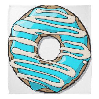 アイシングが付いている明るく青いドーナツ バンダナ