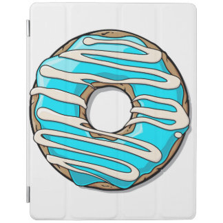 アイシングが付いている明るく青いドーナツ iPadスマートカバー