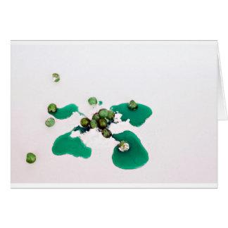 アイシング砂糖の緑の砂糖漬けのさくらんぼのシロップ カード