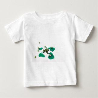 アイシング砂糖の緑の砂糖漬けのさくらんぼのシロップ ベビーTシャツ