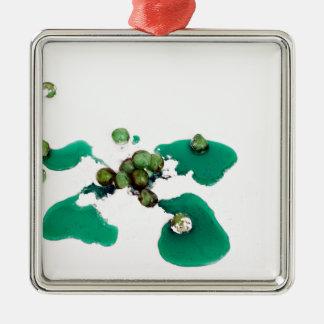 アイシング砂糖の緑の砂糖漬けのさくらんぼのシロップ メタルオーナメント