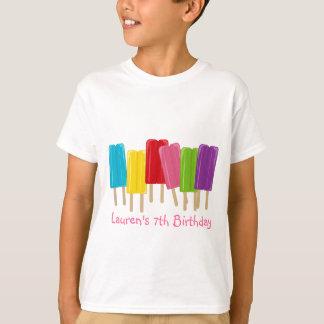 アイスキャンデーおよび水玉模様 Tシャツ