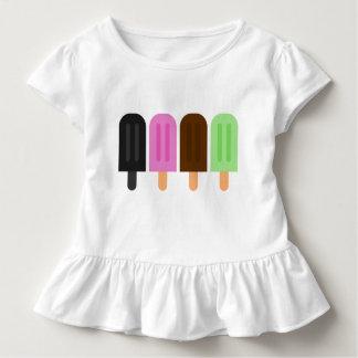 アイスキャンデーの幼児のひだのティー トドラーTシャツ