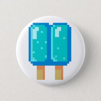 アイスキャンデーピクセル芸術の青い8ビットボタン 5.7CM 丸型バッジ
