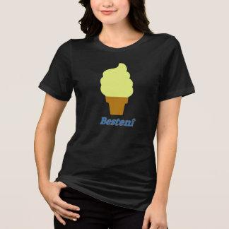 アイスクリームおよび文字Bestenî Tシャツ