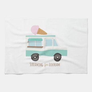 アイスクリームのために叫ぶこと ハンドタオル