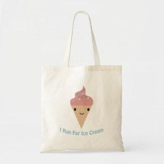 アイスクリームのために走られるかわいいI トートバッグ