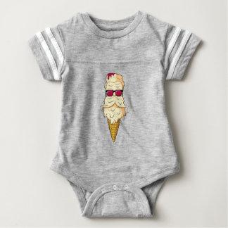 アイスクリームのひげ ベビーボディスーツ