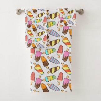 アイスクリームのアイスキャンデータオルセット バスタオルセット
