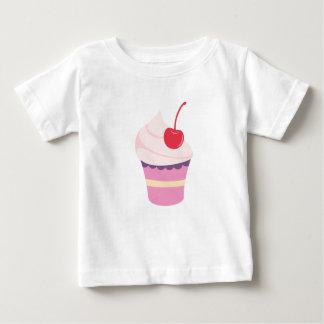 アイスクリームのコップが付いている赤ん坊のTシャツ ベビーTシャツ