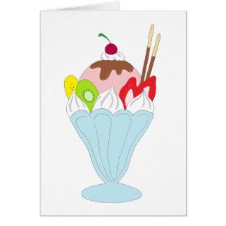 アイスクリームのサンデー カード