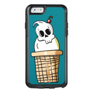 アイスクリームのスカルの円錐形 オッターボックスiPhone 6/6Sケース