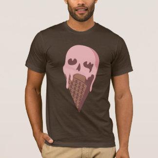 アイスクリームのスカル Tシャツ