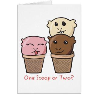 アイスクリームのスコップ カード