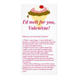 アイスクリームのバレンタインデーカード カード