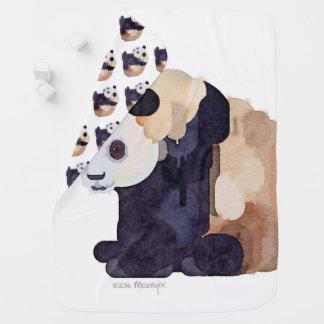 アイスクリームのパンダのベビーブランケット ベビー ブランケット