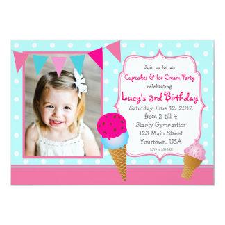 アイスクリームのパーティーのペンダント カード