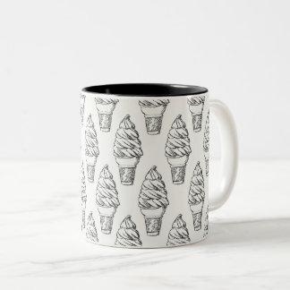 アイスクリームのマグ ツートーンマグカップ