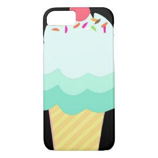 アイスクリームのミントのiPhoneの場合 iPhone 8/7ケース