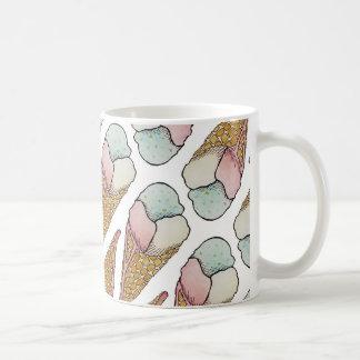 アイスクリームのワッフルの円錐形 コーヒーマグカップ