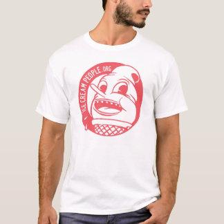 """アイスクリームの人々""""レトロのロゴ"""" Tシャツ"""