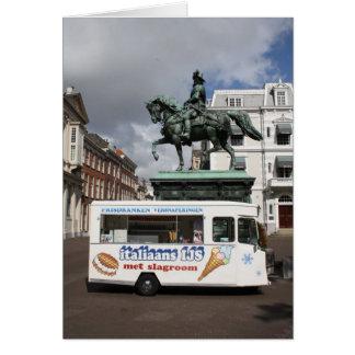 アイスクリームの売り手および彫像 カード