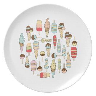 アイスクリームの変化のプレート プレート