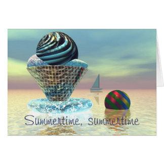 アイスクリームの夏期カード カード