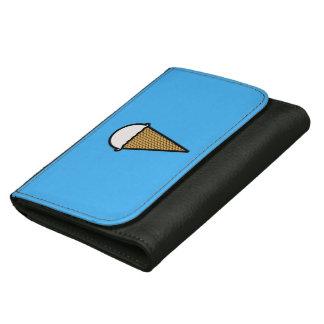 アイスクリームの大きい革財布(黒) ウォレット