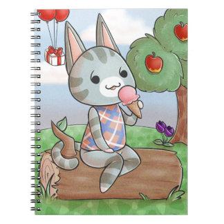 アイスクリームの子猫のノート ノートブック