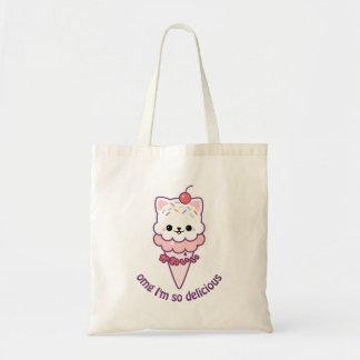 アイスクリームの子猫 トートバッグ