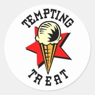 アイスクリームの心をそそる御馳走 ラウンドシール