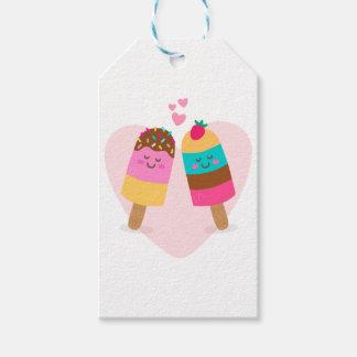 アイスクリームの恋人は私のバレンタインです ギフトタグ