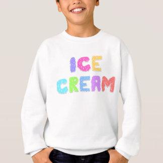 アイスクリームの文字-ライト スウェットシャツ