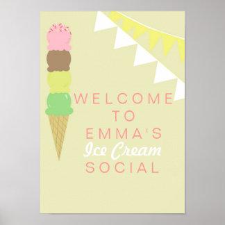 アイスクリームの社会的なパーティーポスター ポスター