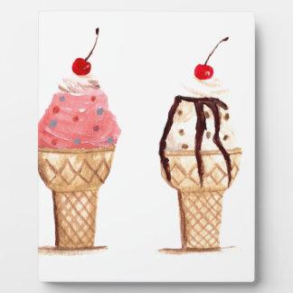 アイスクリームの食糧 フォトプラーク