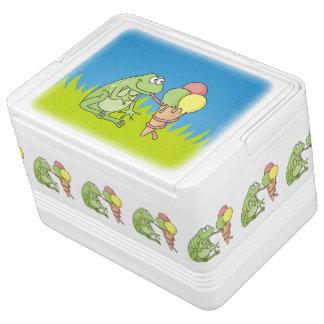 アイスクリームを持つカエル IGLOOクーラーボックス