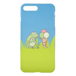 アイスクリームを持つカエル iPhone 8 PLUS/7 PLUS ケース
