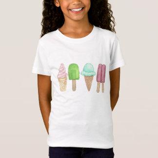 アイスクリームコーンのアイスキャンデーの子供のTシャツ Tシャツ