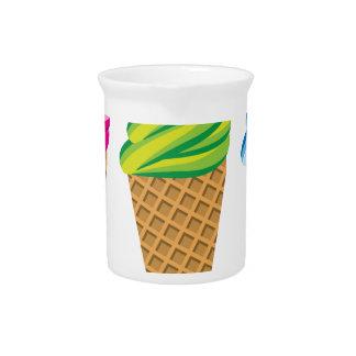 アイスクリームコーンのベクトル ピッチャー