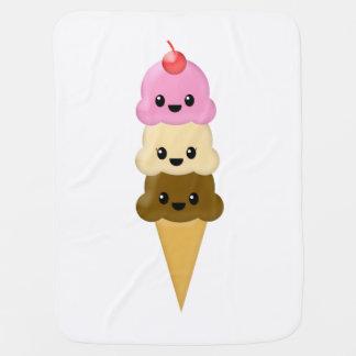 アイスクリームコーンのベビーブランケット ベビー ブランケット