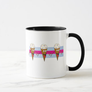 アイスクリームコーンのマグ マグカップ