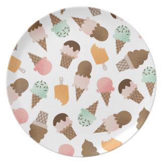 アイスクリームコーンのメラミンプレート プレート