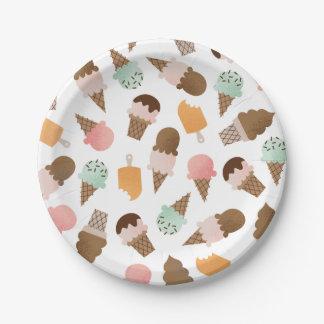 アイスクリームコーンの紙皿 ペーパープレート