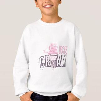 アイスクリームコーンの食糧デザートの甘い軽食愛 スウェットシャツ