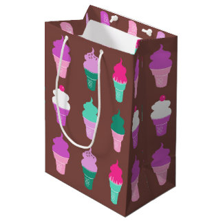 アイスクリームコーンのgiftbag ミディアムペーパーバッグ