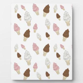 アイスクリームコーンパターン フォトプラーク