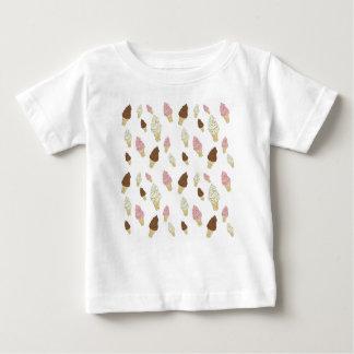 アイスクリームコーンパターン ベビーTシャツ