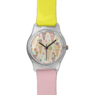 アイスクリームコーンパターン 腕時計